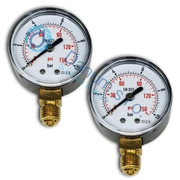 "[MM-SET-T] Manometer set 1/4"" d50 top"
